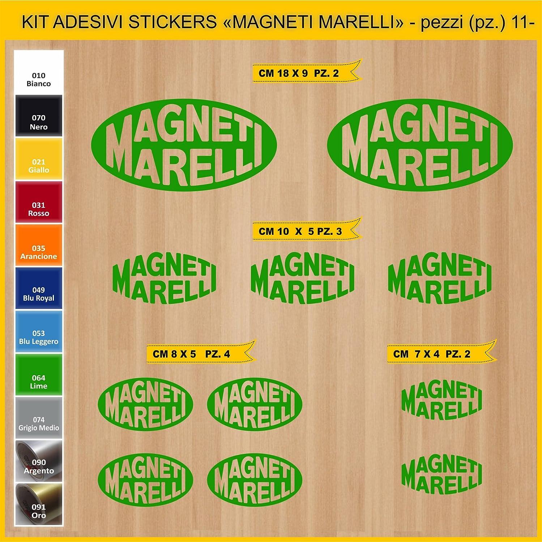 Adesivi Stickers MAGNETI MARELLI Sponsor Tecnici Moto Motorbike cod.0761 Pezzi 11