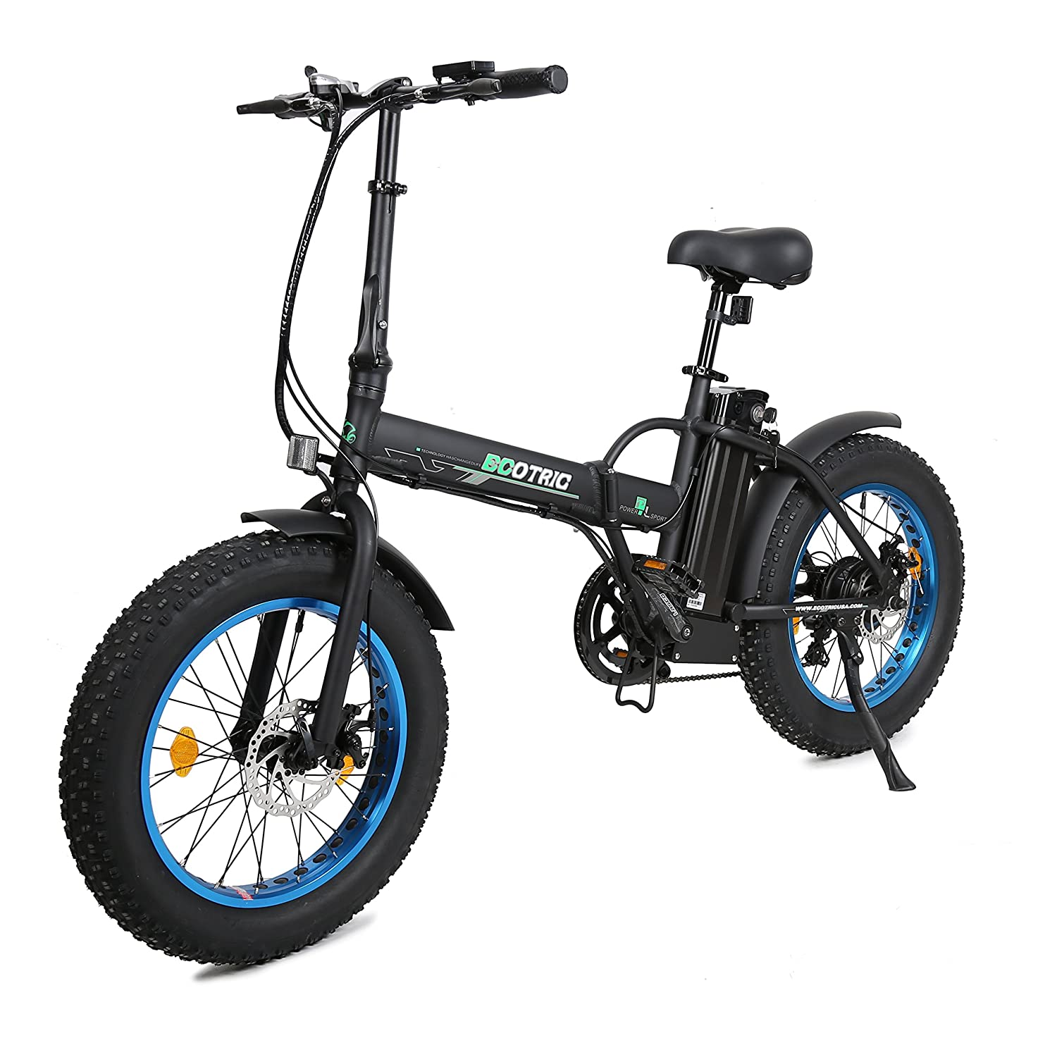 Electric Road Bike Reviews Prices Specs Videos Photos >> Ecotric 20 New Fat Tire Folding Electric Bike Beach Snow Bicycle Ebike 500w Electric Moped Electric Mountain Bicycles