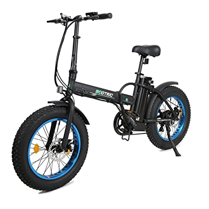"6f404358fdd ECOTRIC 20"" New Fat Tire Folding Electric Bike Beach Snow Bicycle  ebike 500W Electric Moped"