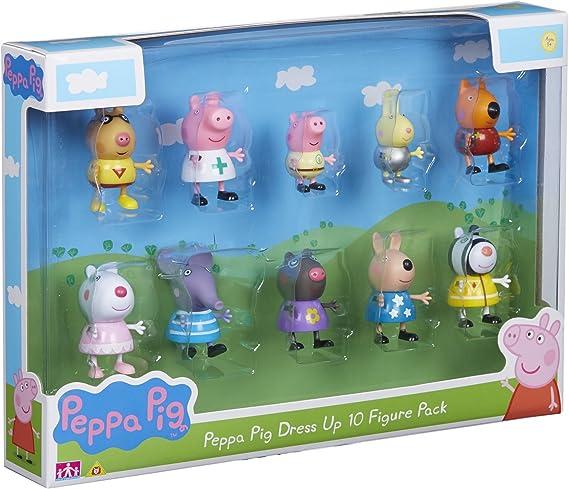 Peppa Pig Set de Personajes, dress up figures, Pack de 10 (06668): Amazon.es: Juguetes y juegos
