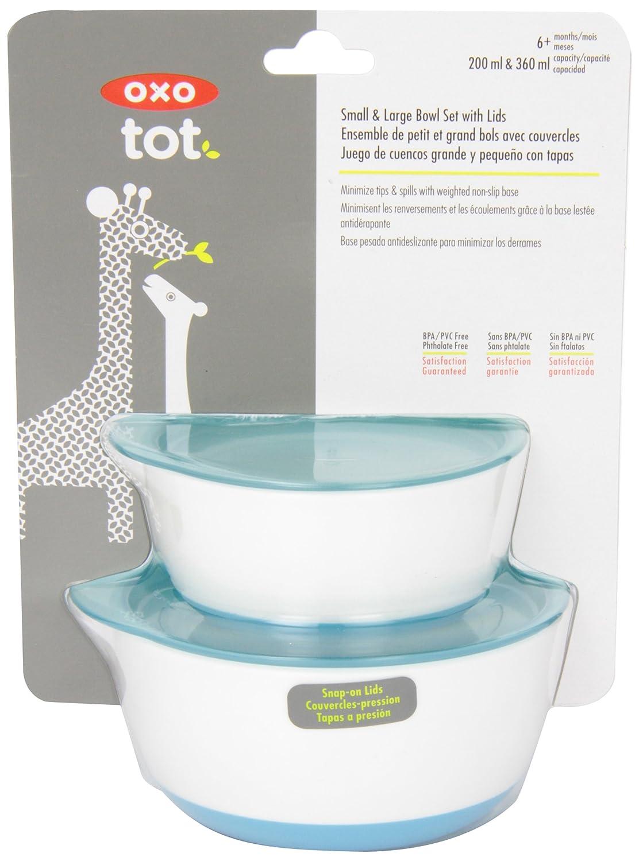 Aqua OXO Tot Small and Large Bowl Set