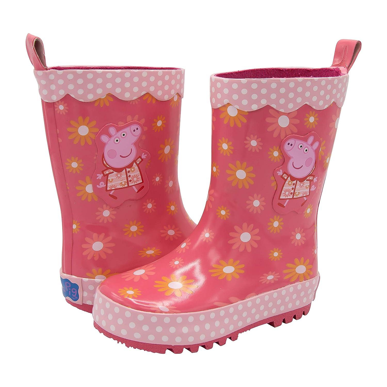 Amazon.com: Peppa Pig - Botas de lluvia para niños, suela de ...