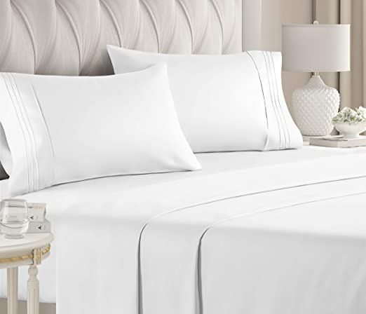 Amazon.com: King Size Sheet Set   4 Piece Set   Hotel Luxury Bed