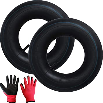 Set of 2 3.50//4.00-6 350//400-6 Inner Tube with TR13 Straight Valve Stem Replacement for Hand Trucks Lawn Mowers Yard Trailers Wheelbarrows