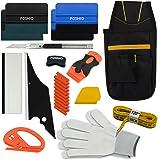 FOSHIO Kit veicolo del vinile che sposta strumento di applicazione per la finestra di automobile Pellicole Installazione includono Tool Bag, Zippy Cutter, Magnete Nastro, raschietto rasoio, lama d'arte, scope di guanti