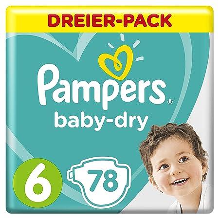 Pampers Baby-Dry Windeln, Gr. 6, für Atmungsaktive Trockenheit, 78 Stück