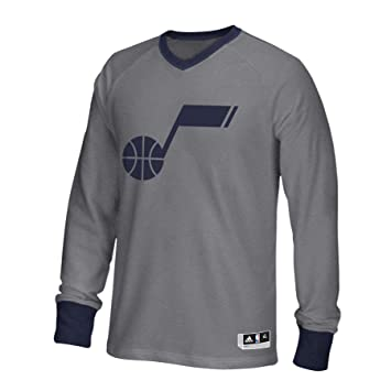 Adidas Utah Jazz de la NBA Gris 2016 Authentic Pista día de Navidad Shooter Camiseta para