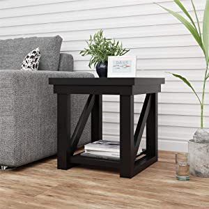 Ameriwood Home Crestwood, Black End Table