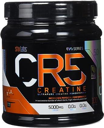 Starlabs nutrition cr5, 100% creatina micronizada, 500gr