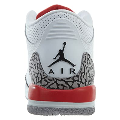 competitive price 4e0ea 54577 Amazon.com   Nike Air Jordan 3 Retro Big Boy s Shoes White Fire Red Cement  Grey 398614-116 (6.5 D(M) US)   Basketball