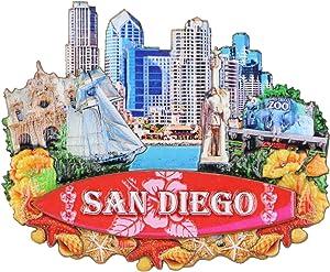 3D San Diego Magnet California Souvenir