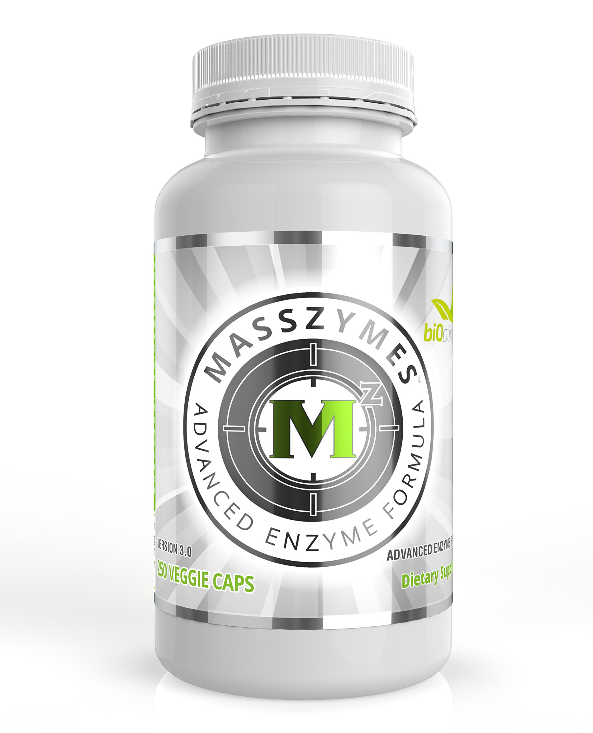 MassZymes - Premium Digestive Enzyme Supplement for Women and Men - Most Potent Enzyme Formula on The Planet - Now with AstraZyme (120 Capsules) by BiOptimizers