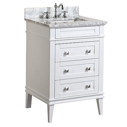 kitchen bath collection kbc l24wtcarr eleanor bathroom vanity with