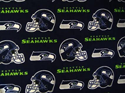 Amazon.com  Seattle Seahawks Soft Fleece Fabric by the Yard Seahawk ... d64daf005