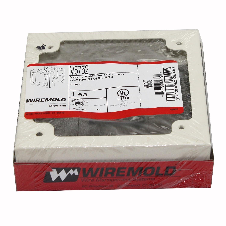 Amazon.com: Wiremold Legrand V5752 Alarm Device Box V500 V700 Series ...