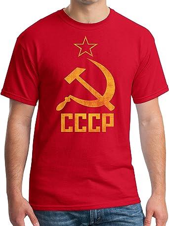 communist soviet propaganda CCCP T shirt sickle hummer logo
