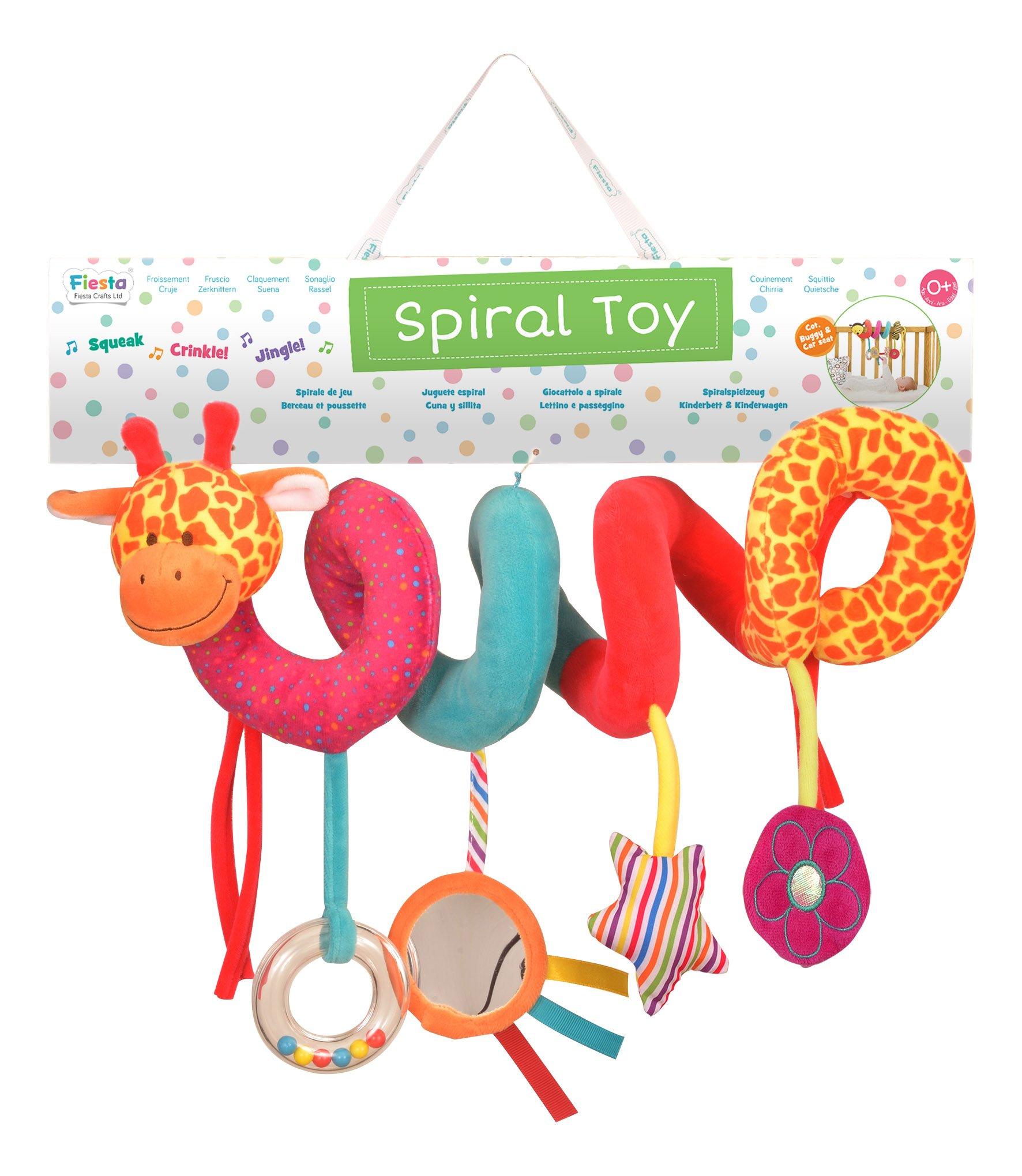 Fiesta Crafts T-2903 Giraffe Spiral Toy