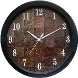 Eskedio® Poster Design Silent Movement FF (26 cm X 26 cm) Plastic Round Shape Vintage Look Design Wall Clock