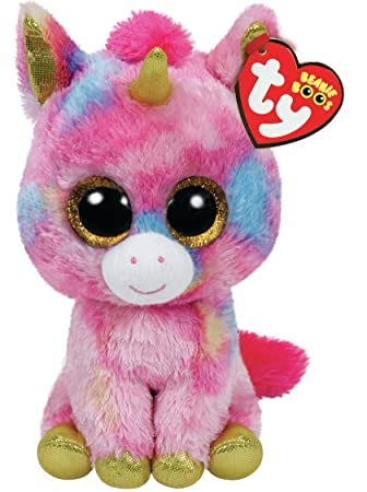 Amazon Com Ty Beanie Boo Plush Fantasia The Unicorn 15cm Toys