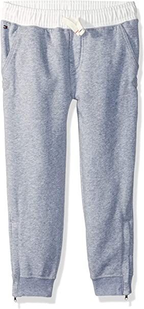 Tommy Hilfiger Boys Adaptive Jogger Pants with Adjustable Waist and Magnet Buttons