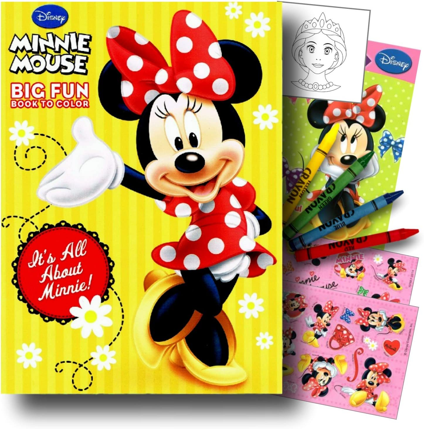 Minnie Mouse Crayola Color /& Sticker Book