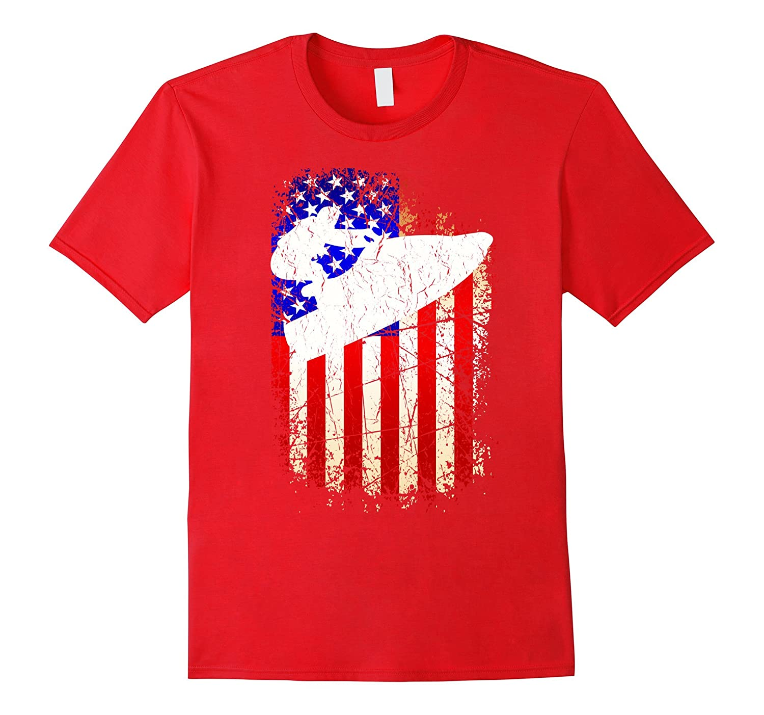 4th of July Jet Ski Shirt Patriotic American Flag T-Shirt-PL