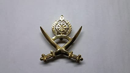 BIKERS WORLD BRASS INDIAN SWARD ARMY EMBLEM BADGE: Amazon in: Car