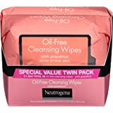Neutrogena Twin Pack Oil Free Cleansing Wipes, Pink Grapefruit