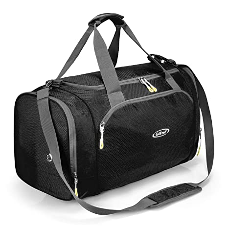 3d555e112d05 G4Free Gym Bag with Shoes Compartment Large 50L Sports Duffel Bag for Men  and Women (