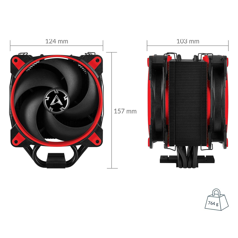 200 bis 1800 U//min Tower CPU-K/ühler mit Push-Pull-Konfiguration I 120 mm PWM Prozessorl/üfter f/ür Intel und AMD PWM-Sharing-Technologie PST ARCTIC Freezer 33 eSports Edition Weiss