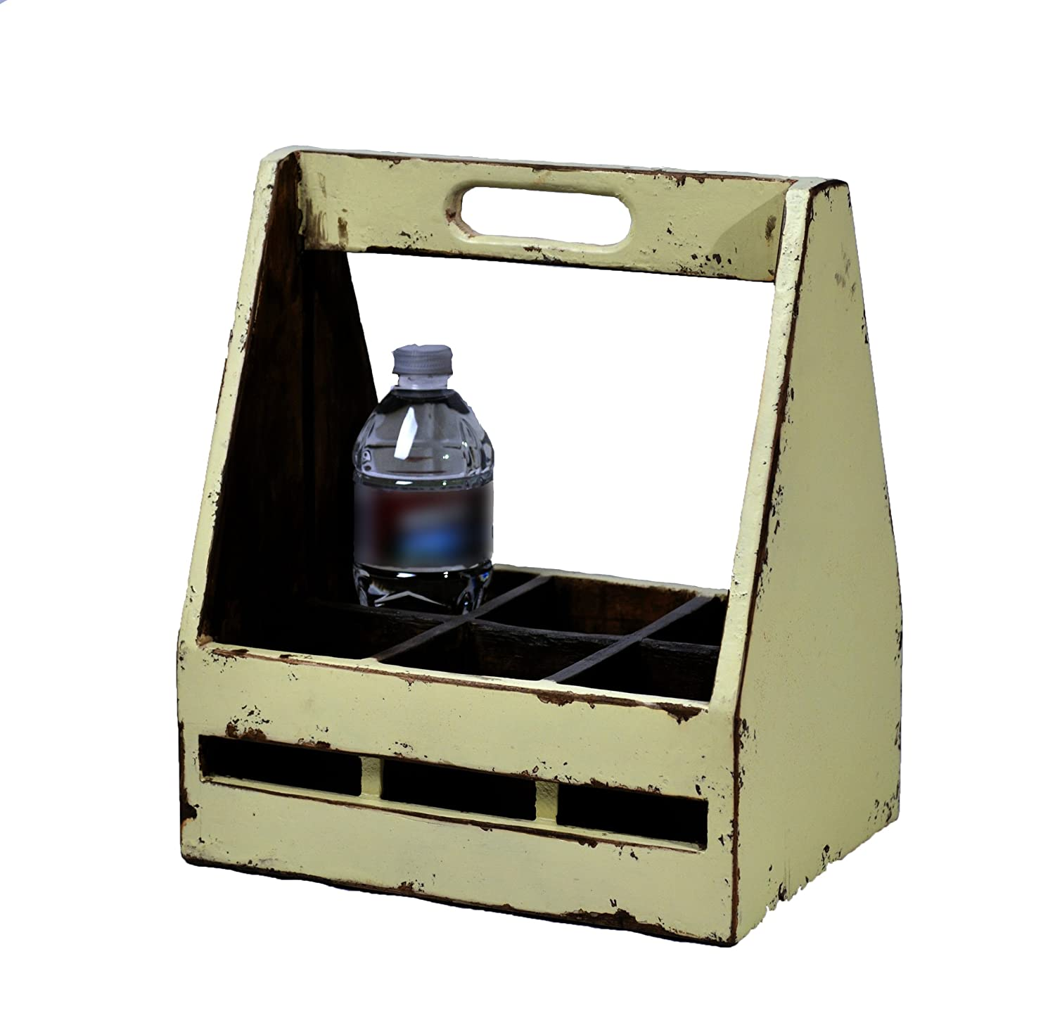 Amazon.com: Antique Revival Small Wooden Milk Crate With Handle, Blue  Finish: Kitchen U0026 Dining