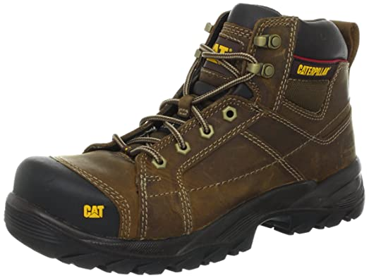 Caterpillar Men's Crossrail Steel Toe Work Boot,Dark Beige,7 ...