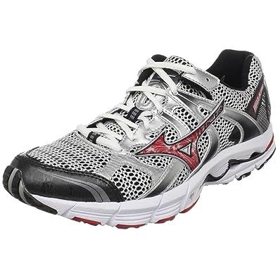cf0b308257bf Mizuno Men's Wave Alchemy 10 Running Shoe,White/Chinese Red-Biking Red,