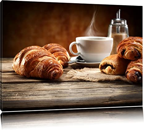 Kaffeebohnen Panorama Format Bild auf Leinwand Poster Wandbilder
