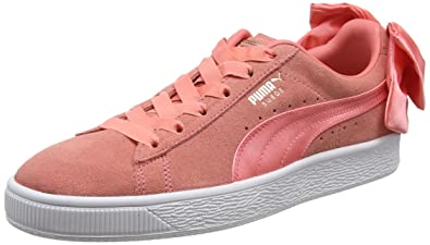 Amazon Com Puma Suede Bow Womens Sneakers Pink Running