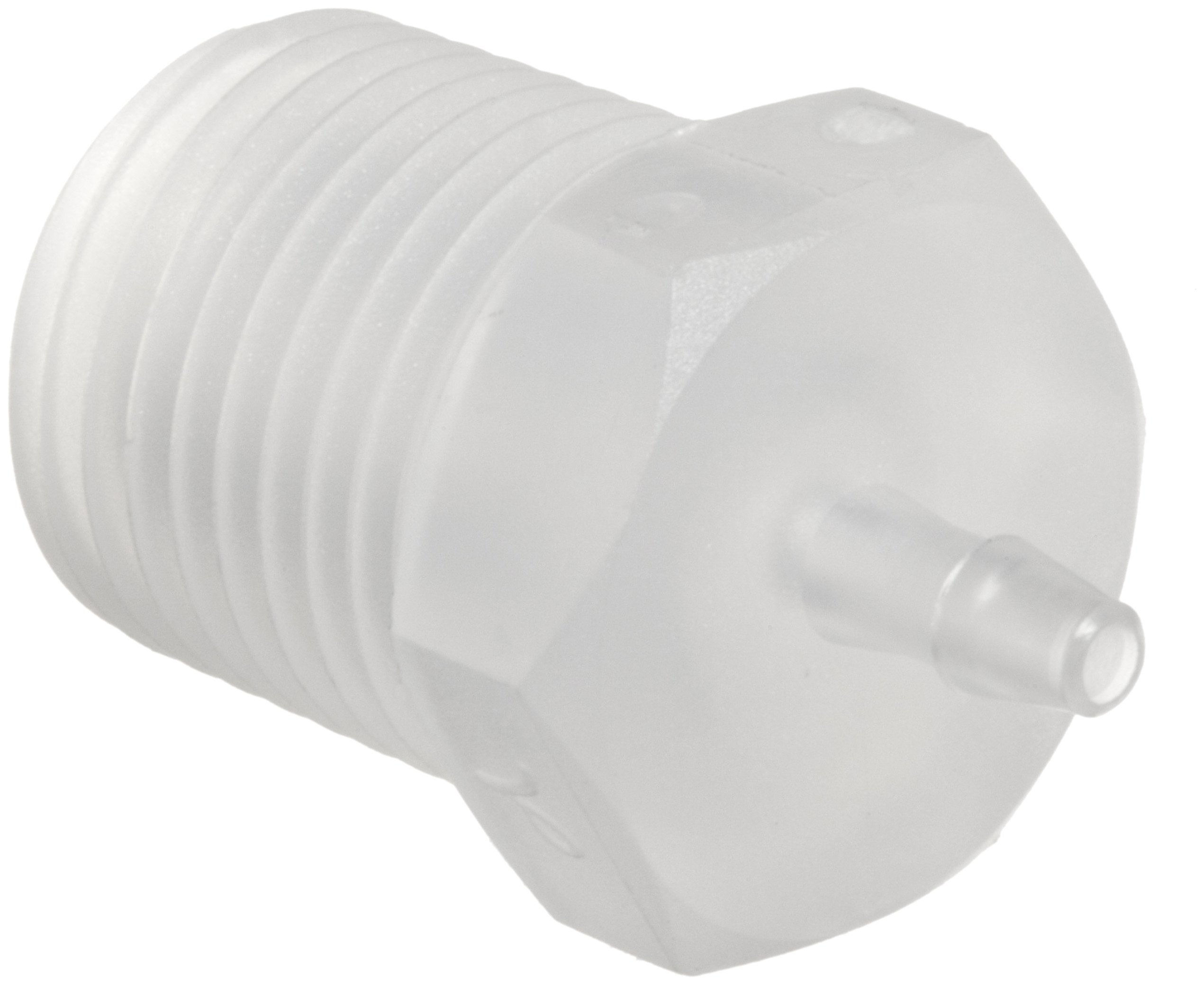 Value Plastics 18210-6 Natural Polypropylene Tube Fitting, 200 Series Barbed Adapter, 1/16'' (1.6 mm) Tube ID x 1/8-27 NPT Male (Pack of 25)