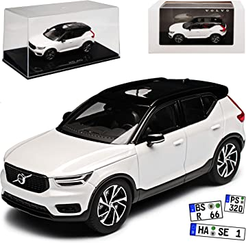 Generation Ab 2017 1//43 Kyosho Modell .. Volvo XC60 II SPA SUV Kristall Weiss 2