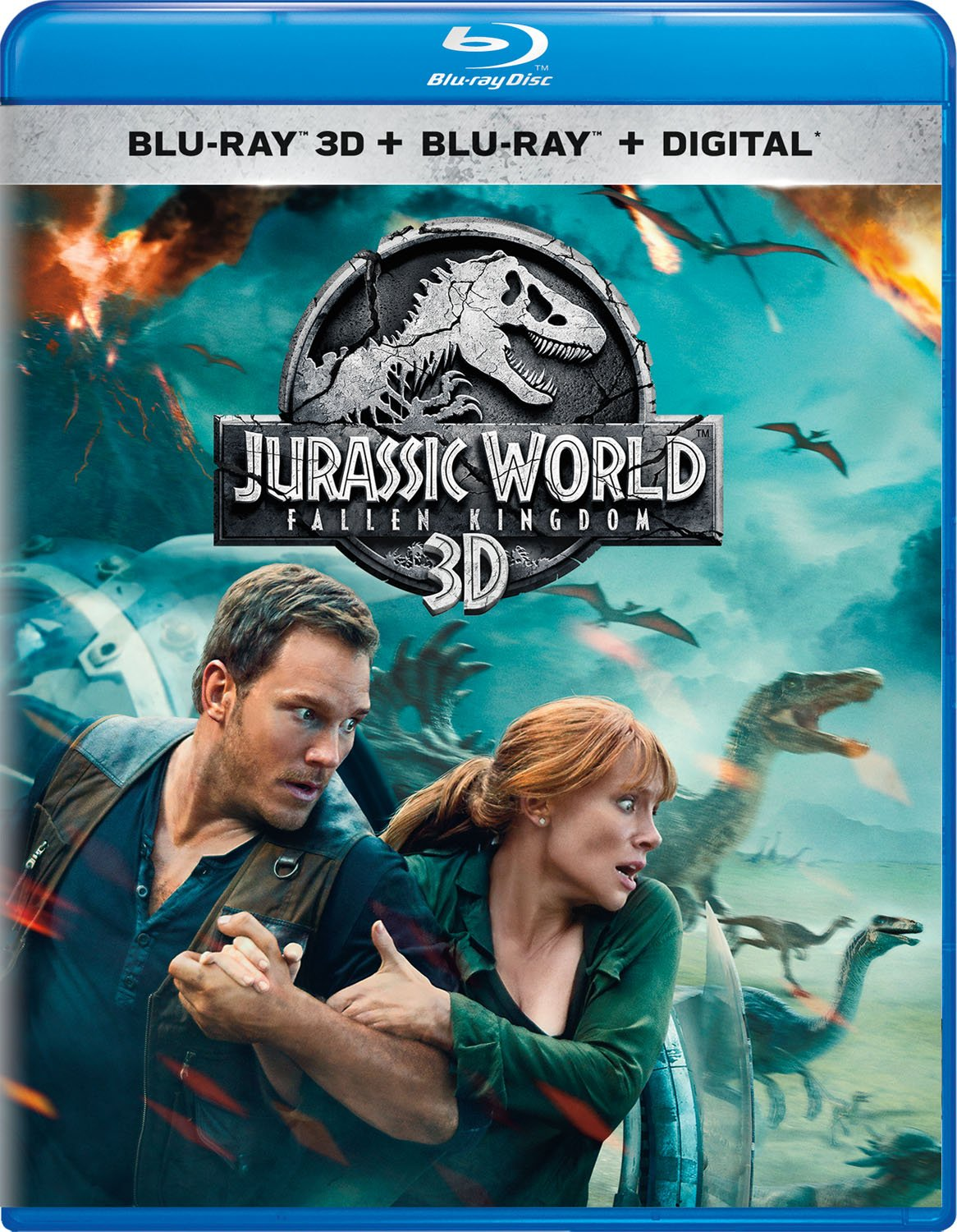 Blu-ray 3D : Jurassic World: Fallen Kingdom (With Blu-ray, 2 Pack, 3 Dimensional)