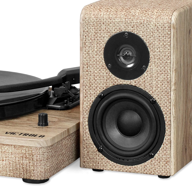 Amazon.com: Victrola - Reproductor de madera y lino con ...