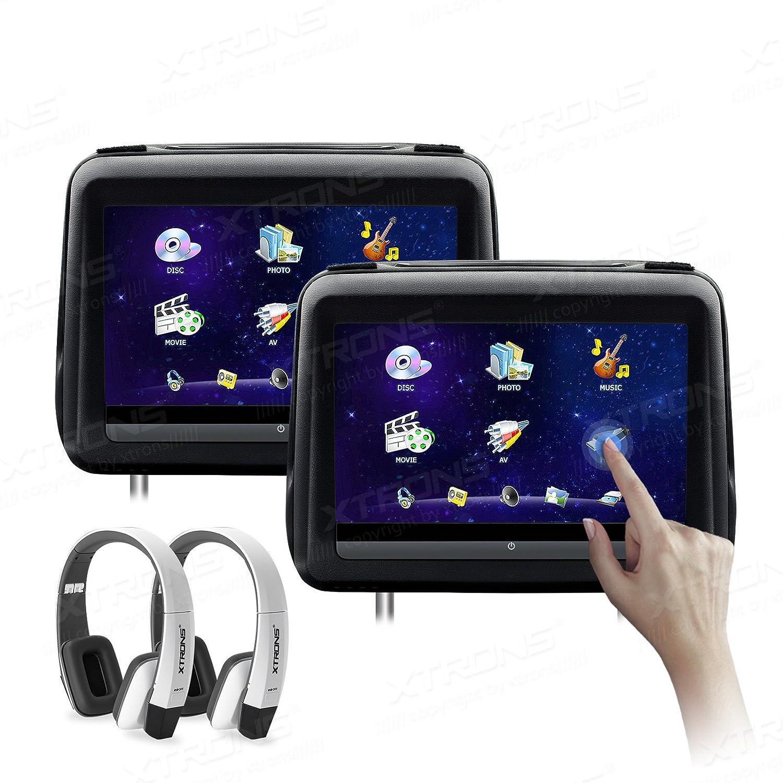 XTRONS 10.1インチHDデジタルタッチ画面レザーカバー単一車ヘッドレストDVDプレーヤー1080pビデオwith HDMIポート ブラック HD198THDBlack+DWH006x2 B076J828P2 HD198THDBlack+DWH006x2 HD198THDBlack+DWH006x2
