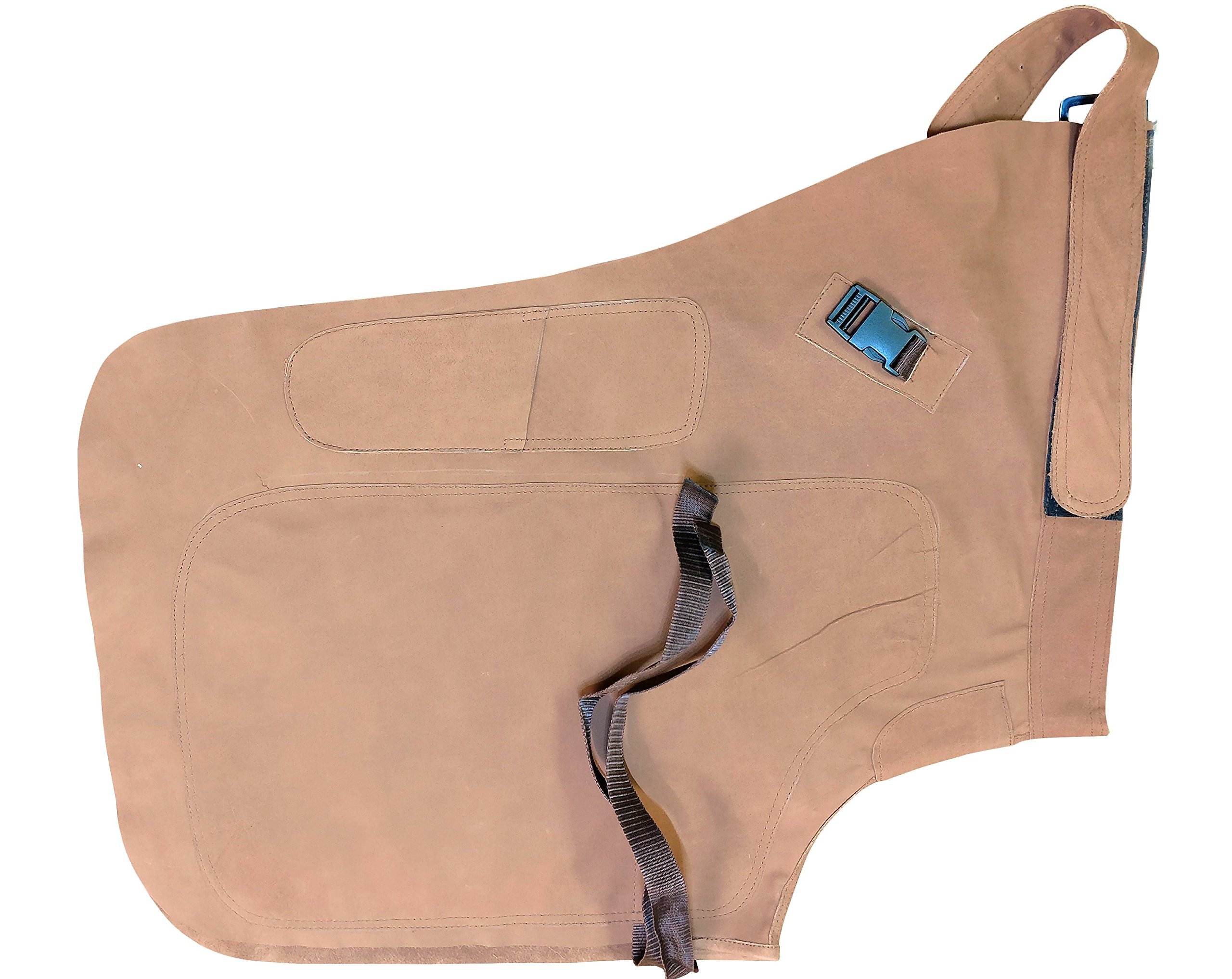Farrier Chaps Suede Leather Horse Shoeing Apron Hoof Knife Pocket