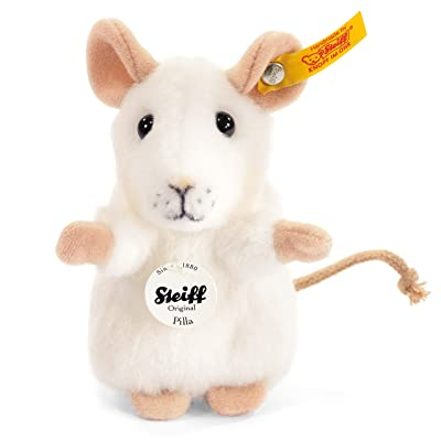 Steiff Pilla White Mouse: Toys & Games