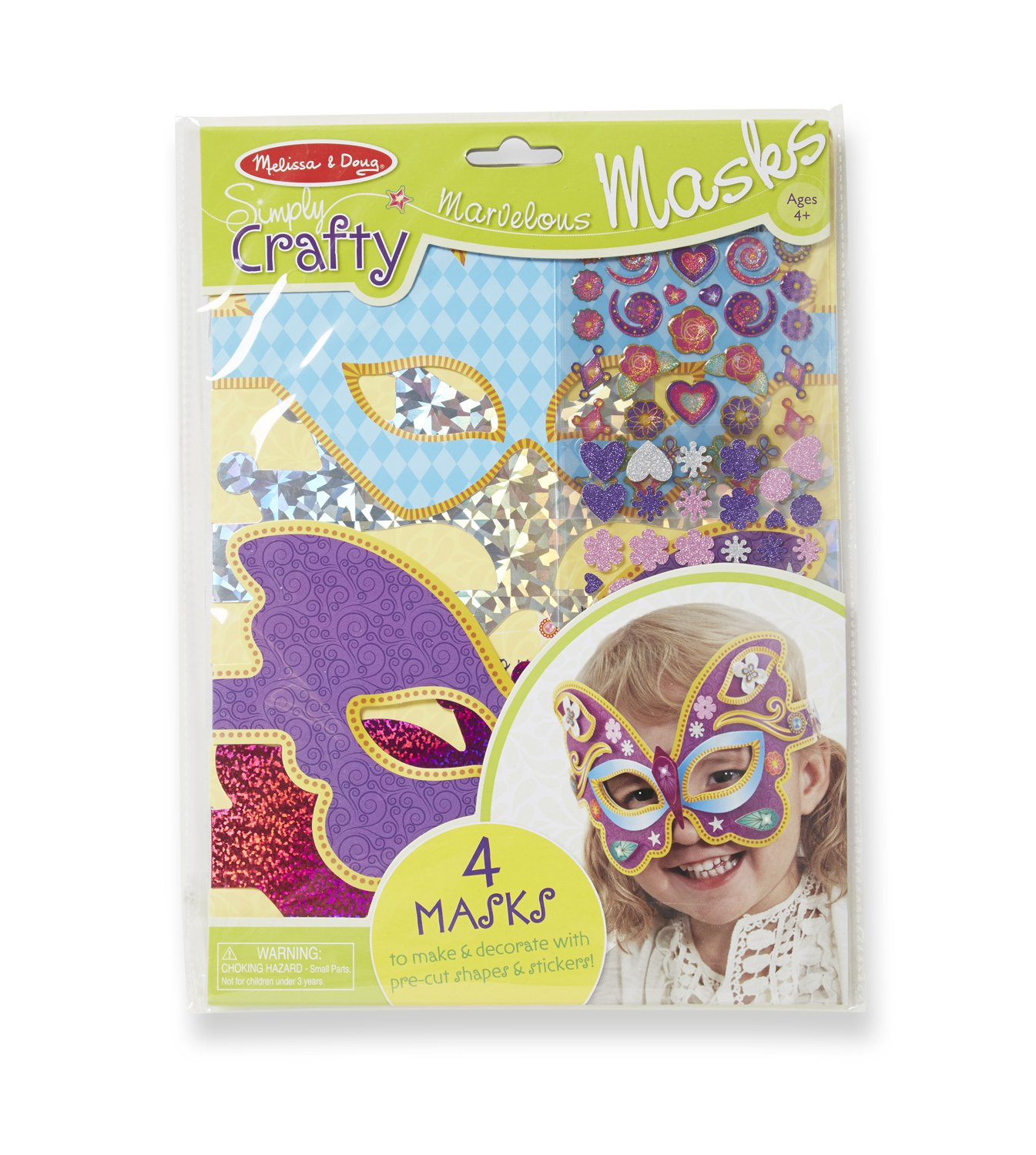 Melissa and Doug Simply Crafty Marvelous Masks Activity Kit For Kids Party, Halloween, Dress-Up, Prop, Costume