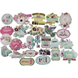 AsianHobbyCrafts Eno Greeting Card Embellishments (25 Pieces)