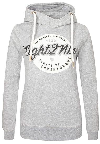Eight2Nine Damen Sweatshirt mit Kapuze (S, hellblau): Amazon