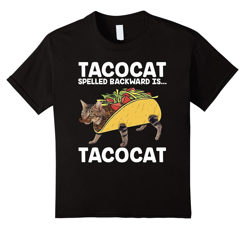 Mens Taco Cat T Shirt Backward-Xalozy