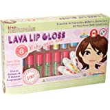 KISS NATURALS Premium DIY Lip Gloss Making Kit For Girls (Age 6+) Natural Create and Make Your Own Lip Gloss Starter Kit Set - Great Gift For Kids!