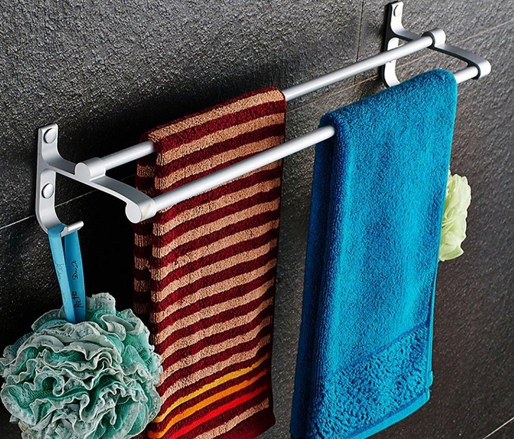DACHUI Bath towel rack bath rooms double rooms shelf Franco punch bath rooms of aluminum bathroom towel racks bath rooms towel rail (dimensions: 70cm x 12.2cm x 9.5 cm).