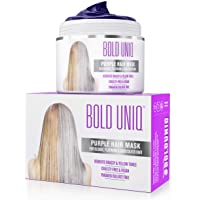 Purple Hair Mask For Blonde, Platinum, Silver Hair - Banish Yellow Hues: Blue Masque to Reduce Brassiness & Condition…