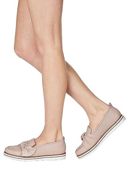 next Mujer Mocasines Plataforma Plana De Ante con Lazo Zapatillas Calzado: Amazon.es: Zapatos y complementos